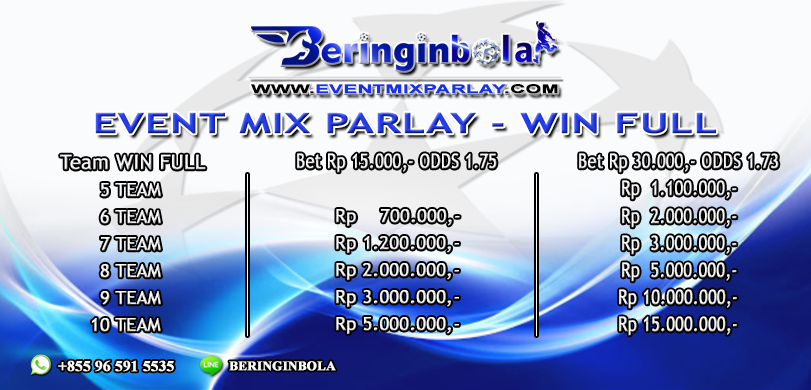 Event Mix Parlay - BeringinBola