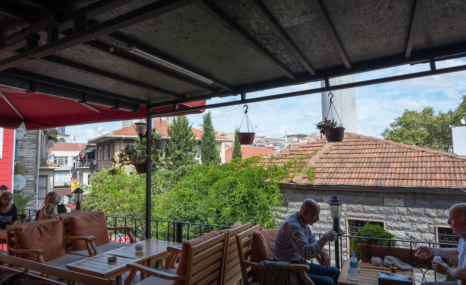 Eating lunch on the Asian side of Istanbul, Turkey