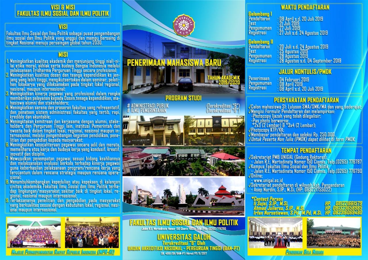 Fisip Universitas Galuh Buka Pendaftaran Mahiswa Baru dengan Biaya Kulih Murah dan Terjangkau