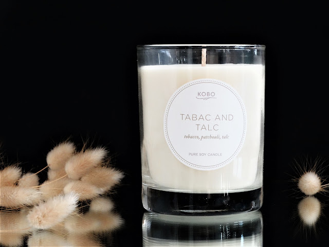 Kobo Tabac and Talc avis, Kobo Tabac and Talc candle review, avis bougie, bougie kobo tabac and talc, bougie parfumée naturelle, kobo candles, bougies kobo avis