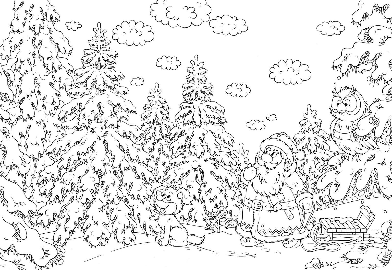 serendipity adult coloring pages seasonal winterchristmas - Christmas Coloring Pages For Adults