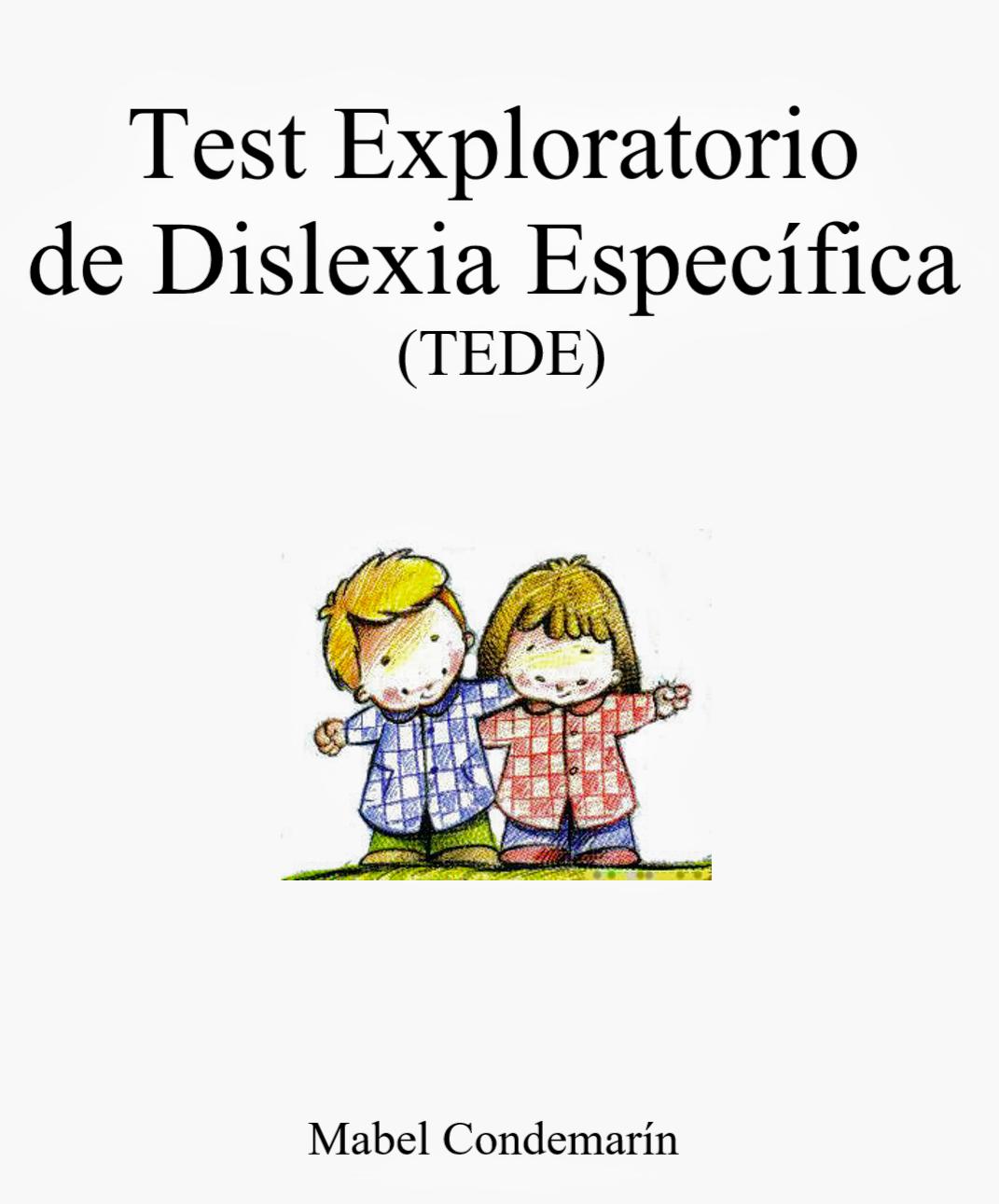 Test exploratorio de dislexia específica. Descargar gratis.