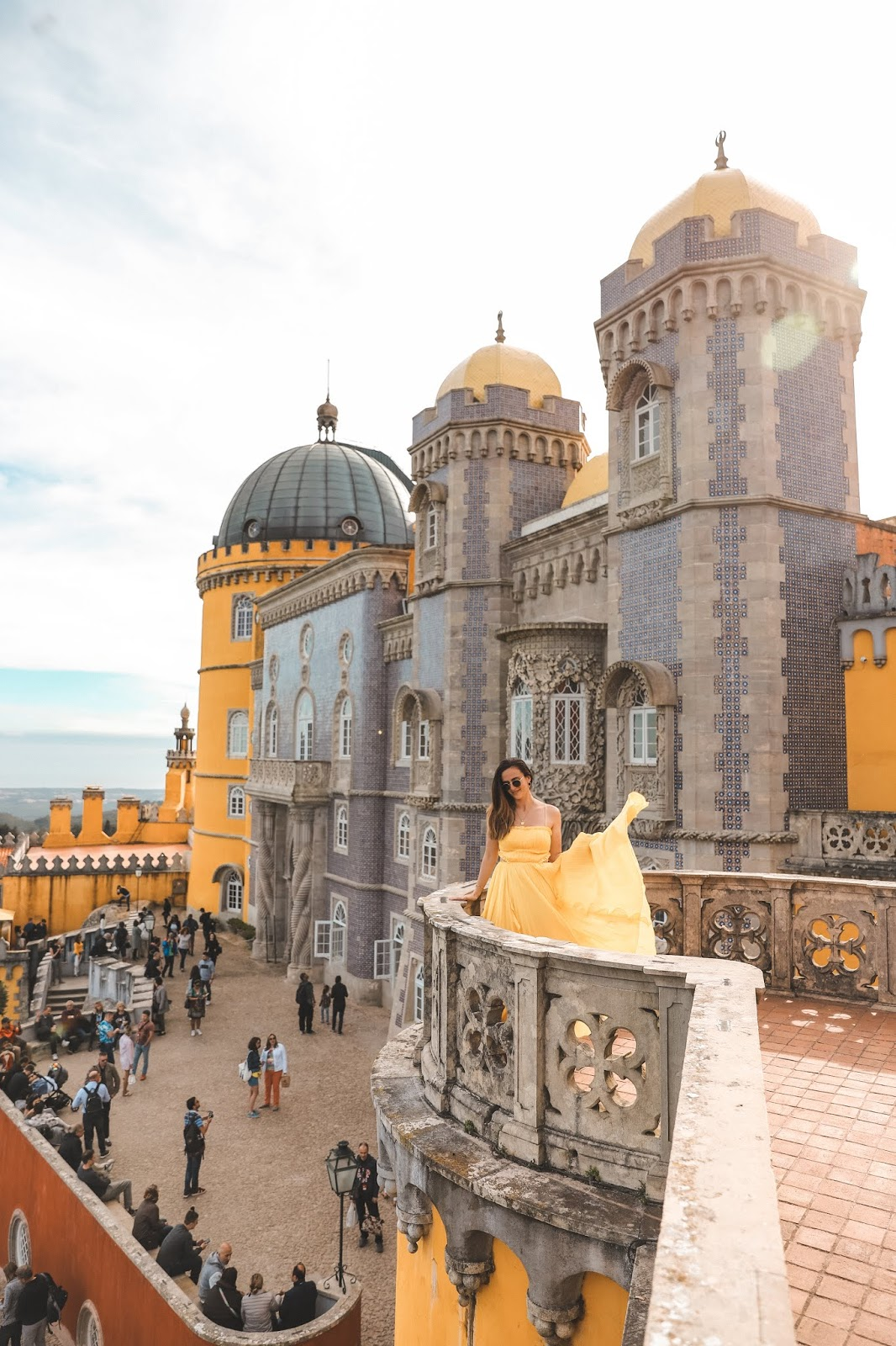 Alicia Mara at Pena Palace in Sintra, Portugal | Travel Guide