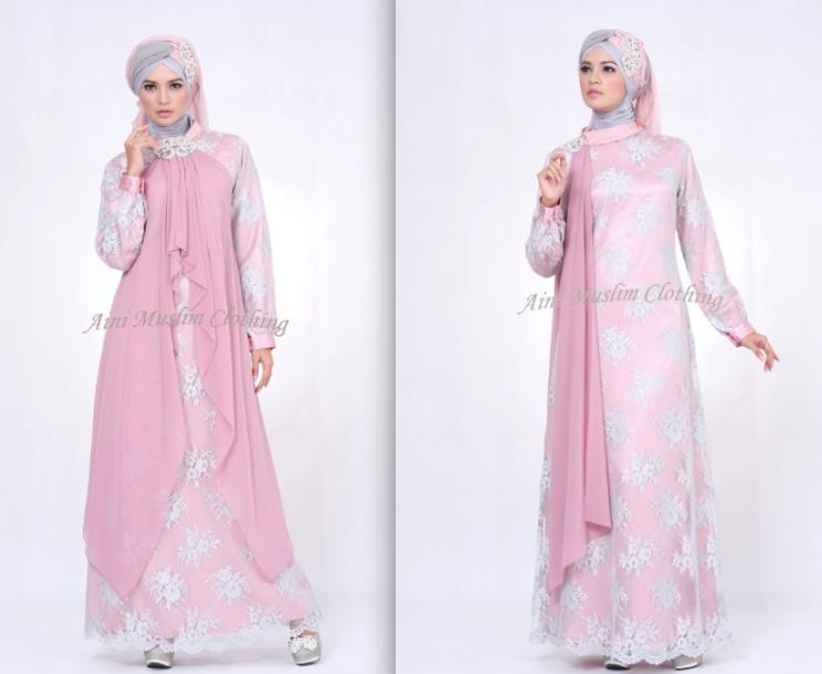 Model Baju Gamis Bahan Sifon Untuk Orang Gemuk Gamis Murni
