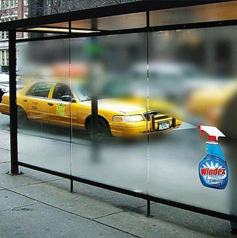 Windex: Spray it