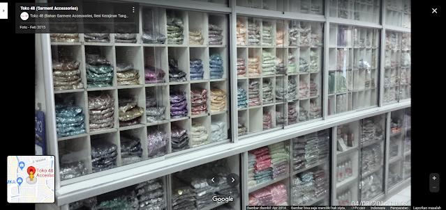Toko 48, Pusat Grosir Aksesoris Garmen di Jakarta