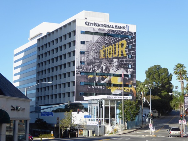 Detour season 2 giant billboard West Hollywood