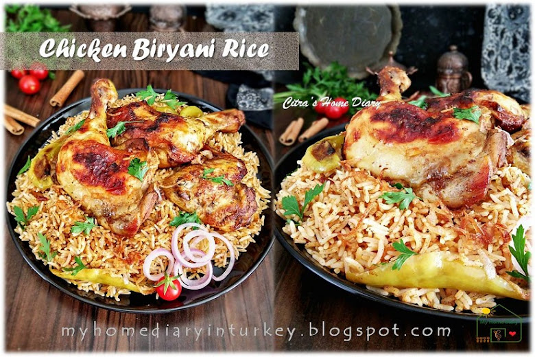 Chicken Biryani Rice, simple recipe with step by step photo and video. | Çitra's Home Diary. #nasibriyani #biryaniricerecipe #chickenrecipe #internationalrecipe #dinneridea #cookingvideo