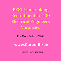 BEST Undertaking Recruitment for 100 Electrical Engineers Vacancies
