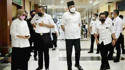 Wagub Audy Pantau Pelaksanaan Vaksinasi dan PPKM Darurat di Padang Panjang