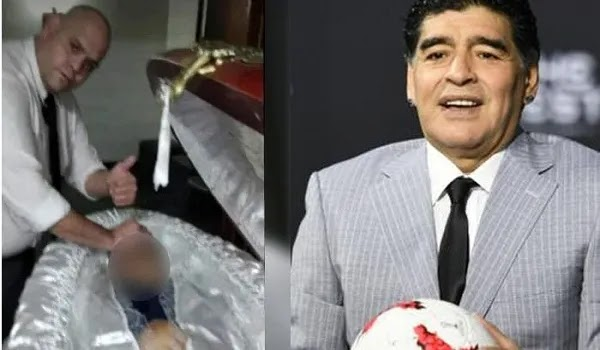 Selfie Taker with Maradona's Body Apologized