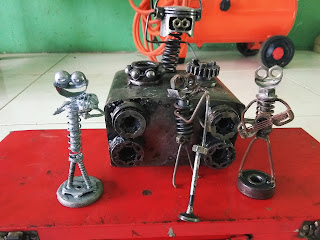miniature of used spare parts