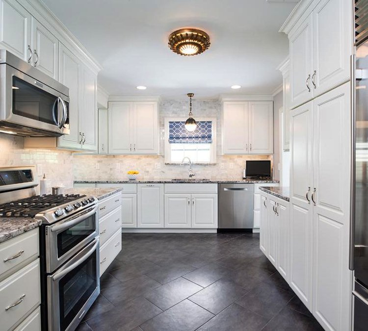 5 beautiful kitchen floor ideas with white cabinets