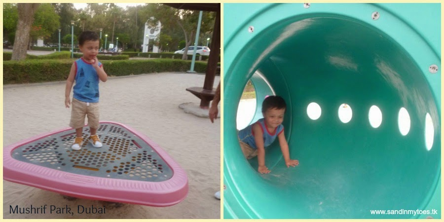 Playing in Mushrif Park, Dubai