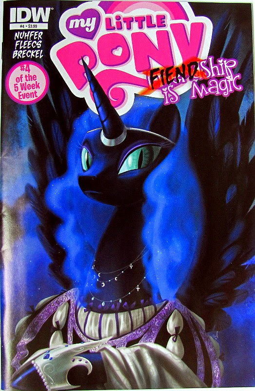 MLP Nightmare Moon Fiendship is Magic comic cover