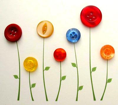 hasil seni kreatif menggunakan butang