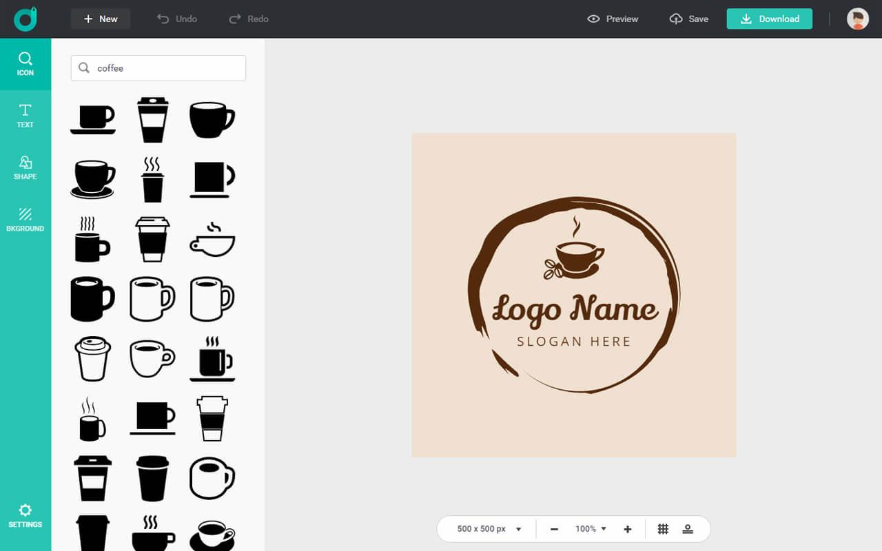 DesignEvo Logo Example Screenshot
