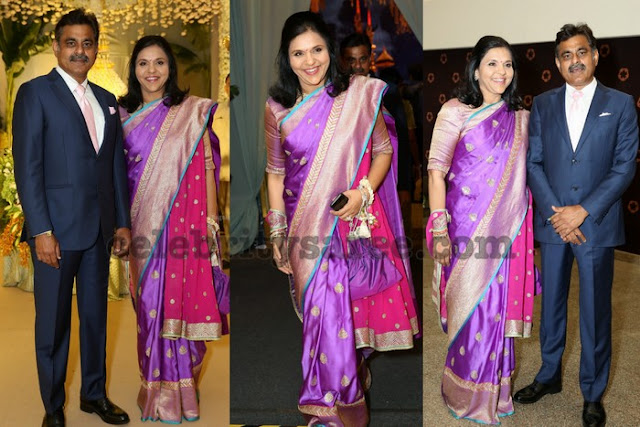 Sangitha Reddy Purple Benaras Saree