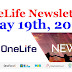 OneLife Newsletter, May 19th, 2020 || MdeNews ||