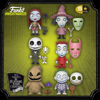 Disney's The Nightmare Before Christmas 5 Star Vinyl Figures by Funko