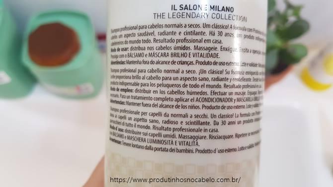 Il Salone Alfaparf shampoo descricao
