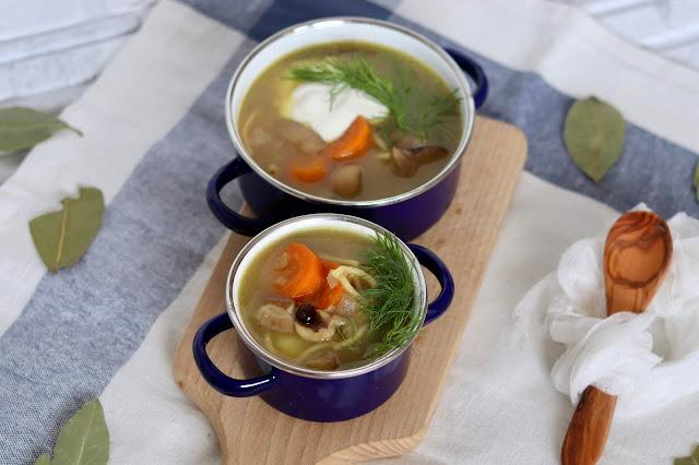 przepis na zupę z grzybów