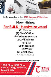 Seaman Job Vacancy 2019
