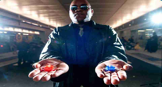 In The Matrix what is the color of the pill taken by Neo?