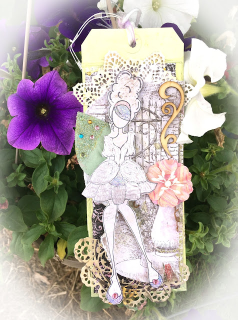 Prima Art Doll Tag by Monica Lowrance