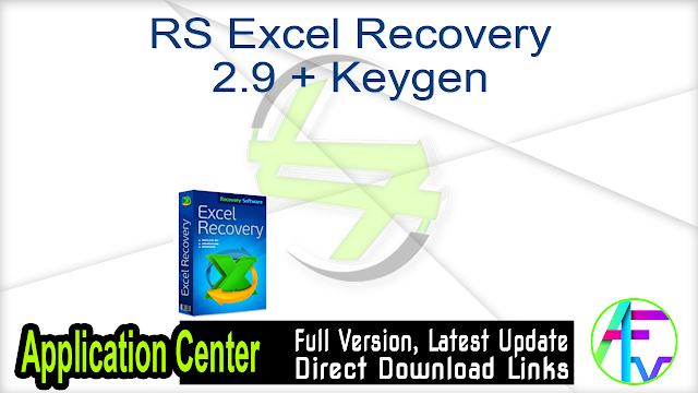 RS Excel Recovery 2.9 + Keygen