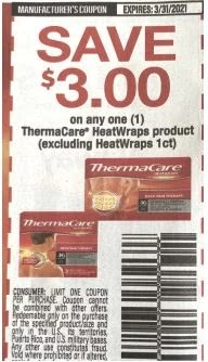 thermacare coupon ss