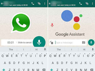 Using Google Assistant is easier for you to send your whatsapp contact voice messages
