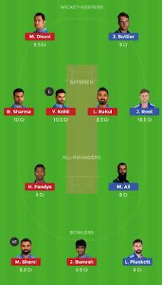 ENG vs IND Dream 11 Team | IND vs ENG