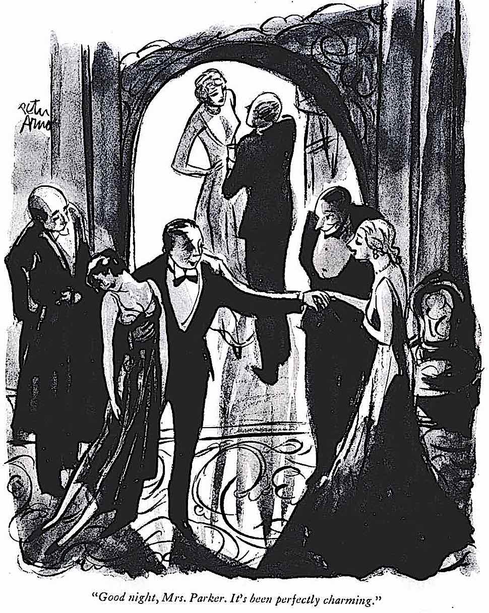 a Peter Arno cartoon about the end of the party