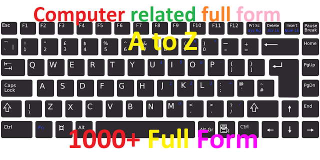 a to z computer related full forms, full forms related to computer