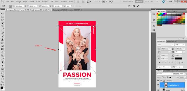 Cara Membuat Story Instagram di Photoshop