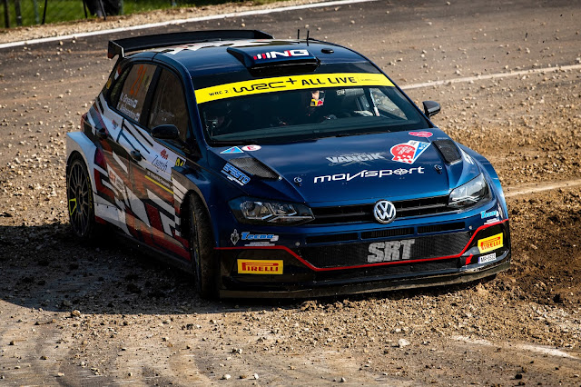 Rally racing car drifting