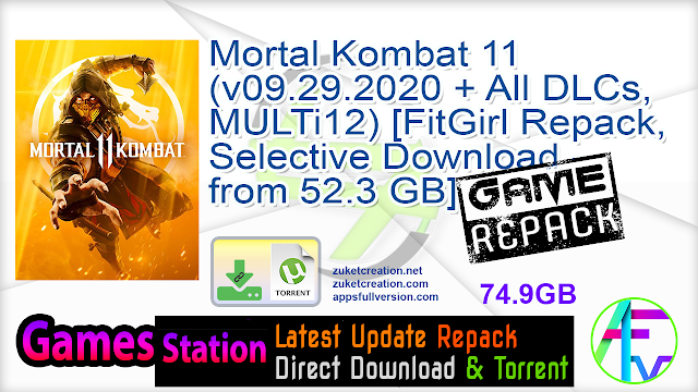 Mortal Kombat 11 (v09.29.2020 + All DLCs, MULTi12) [FitGirl Repack, Selective Download – from 52.3 GB]