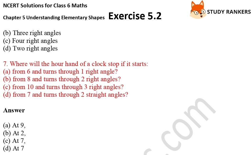 NCERT Solutions for Class 6 Maths Chapter 5 Understanding Elementary Shapes Exercise 5.2 Part 3