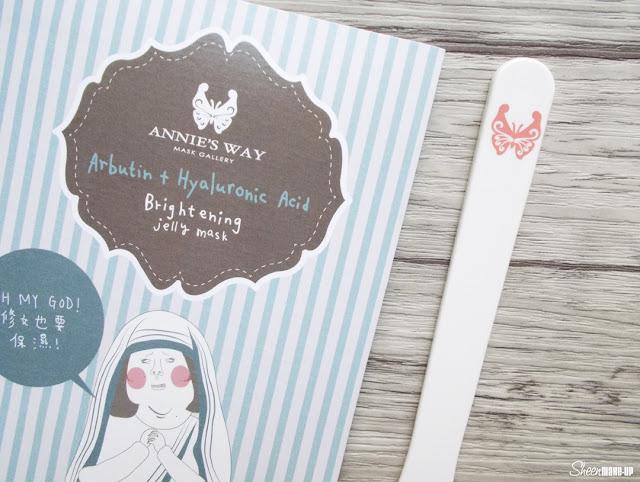 Annie's Way Arbutin + Hyaluronic Acid Brightnening Jelly Mask