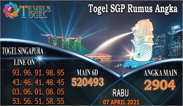 Togel SGP Rumus Angka - Rabu Tanggal 07 April 2021