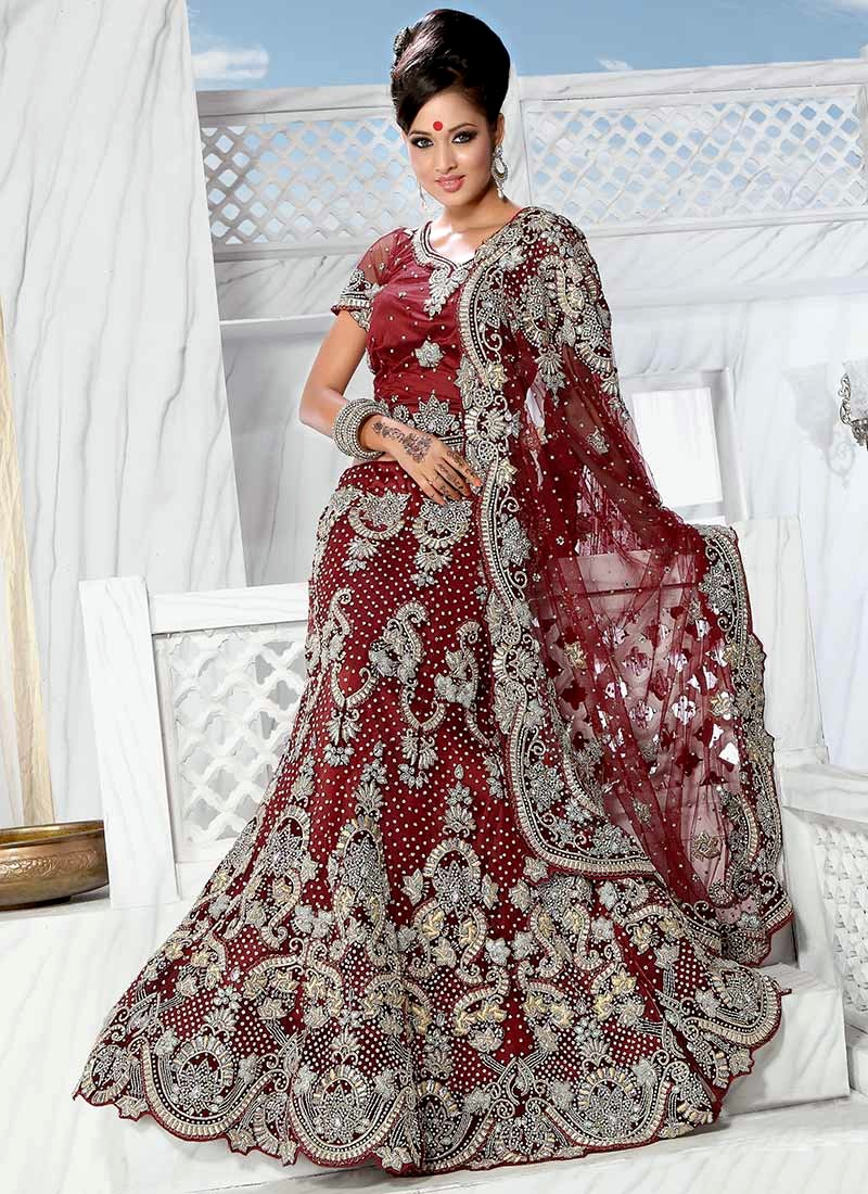 Fish Cut Lehenga Collection 2013 2014 Bridal Wear