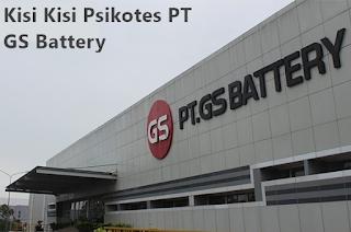 contoh soal psikotes di pt gs baterai
