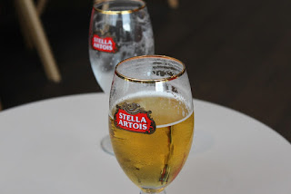 Clothes & Dreams: Leuven loving: relaxing with some Stella Artois after visiting the Stella Artois brewery