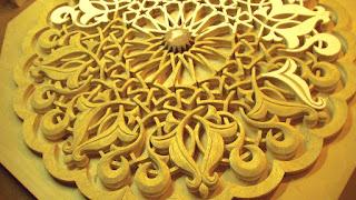 Selçuklu motifli tavan göbeği çalışmam