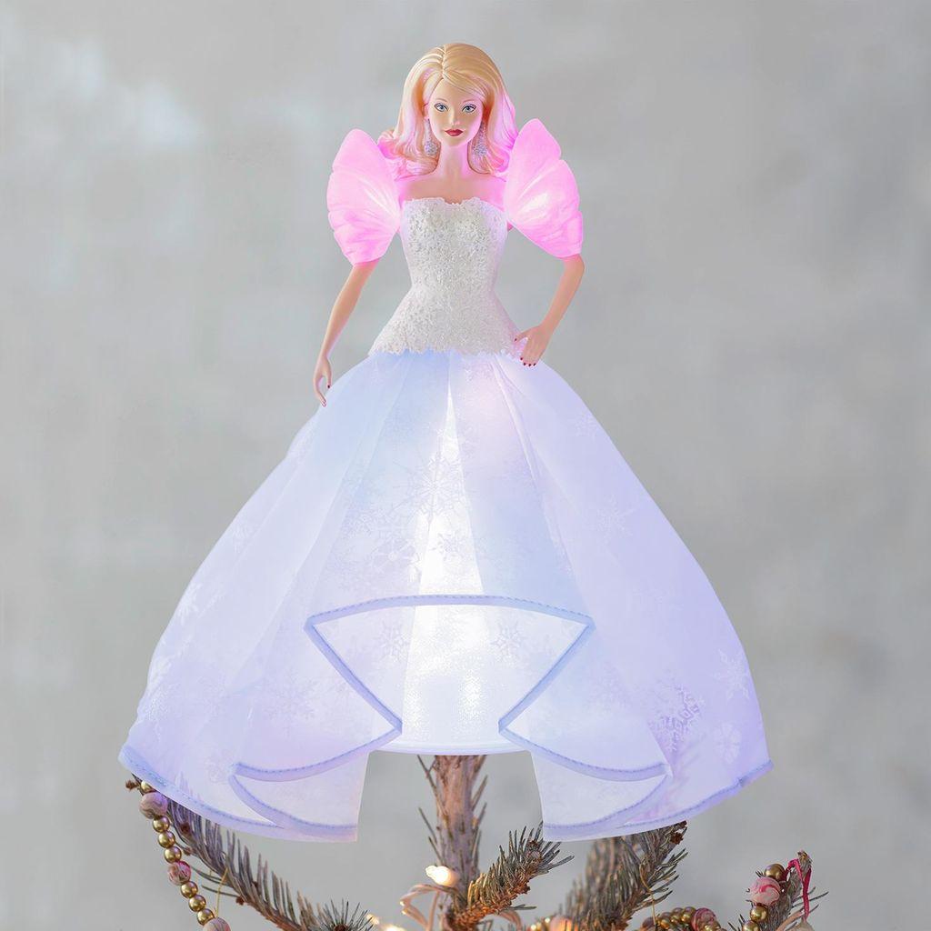 Hallmark Barbie Doll Angel Lights Christmas Tree Topper 2018 Satchel