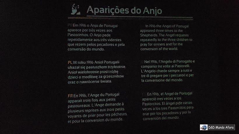 Detalhe do Museu Interativo Milagre de Fátima - Diário de Bordo: Fátima, Óbidos e Nazaré