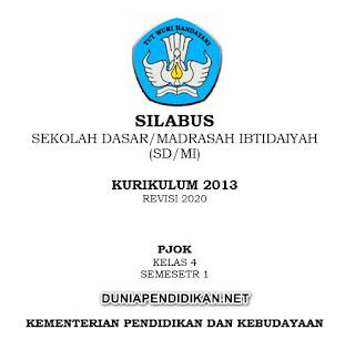 Silabus PJOK Kelas 4 SD/MI Semester 1 K13 Revisi 2021