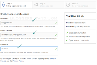 enter your username , email address and password for creating account