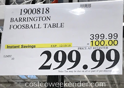 Deal for the Barrington Foosball Table at Costco